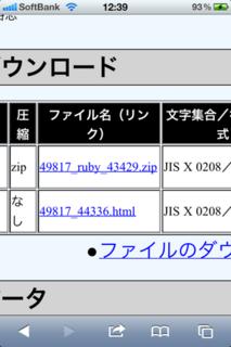 ダウンロードファイルのZIP