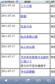 青空文庫 新着作品リスト1